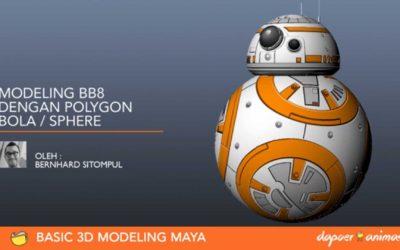Dapoer Animasi : Basic Modeling Maya – Modeling BB8 dengan menggunakan Polygon Sphere