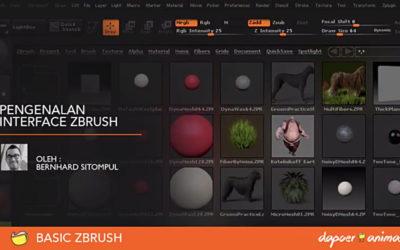Dapoer Animasi – BASIC ZBRUSH : Pengenalan Interface Zbrush