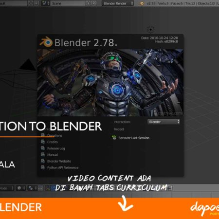 Dapoer Animasi : Introduction to Blender