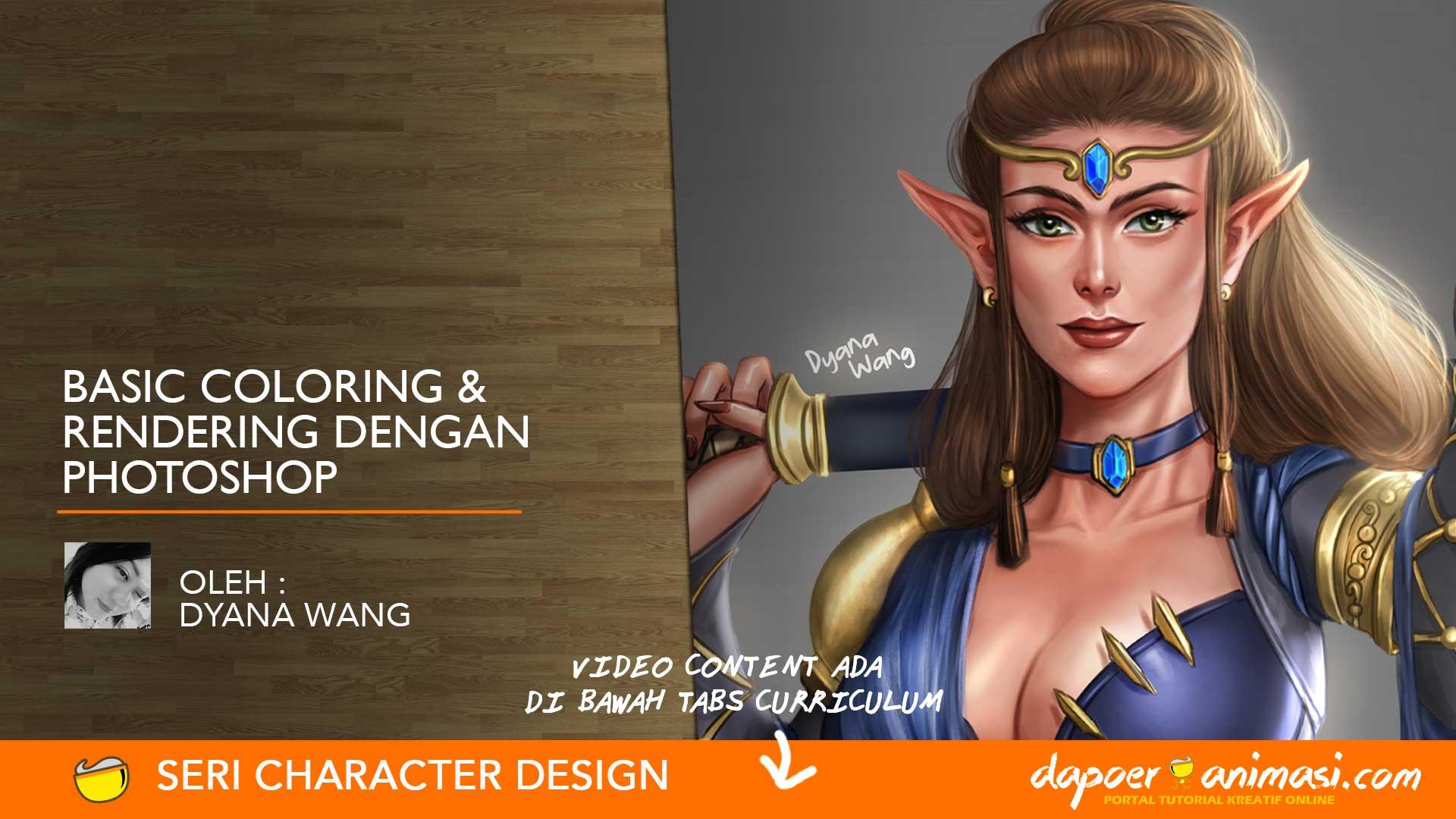 Dapoer Animasi : Basic Coloring & Rendering dengan Photoshop