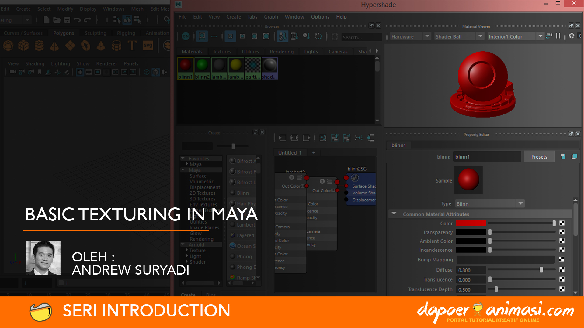 Dapoer Animasi : Basic Texturing in Maya